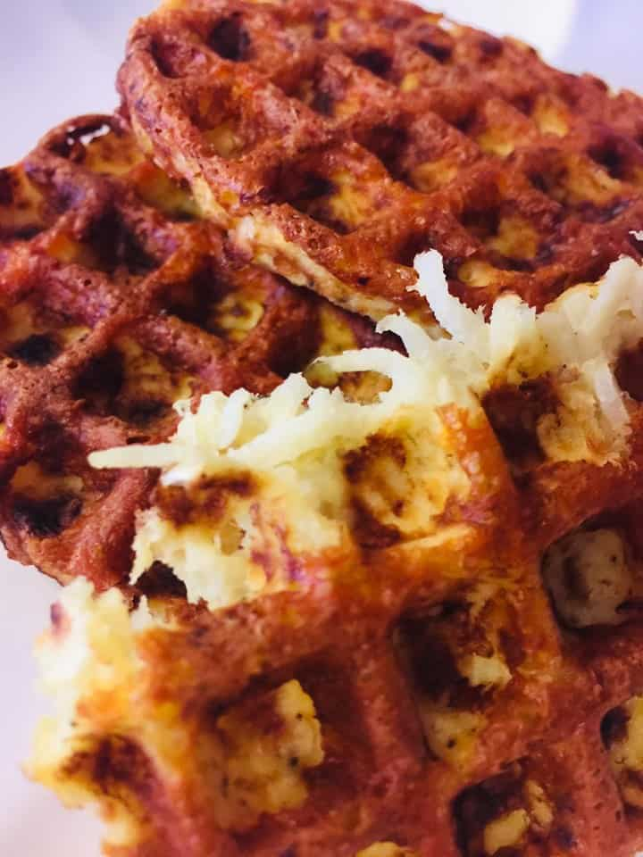 Jicama Hash Brown Chaffles Recipe