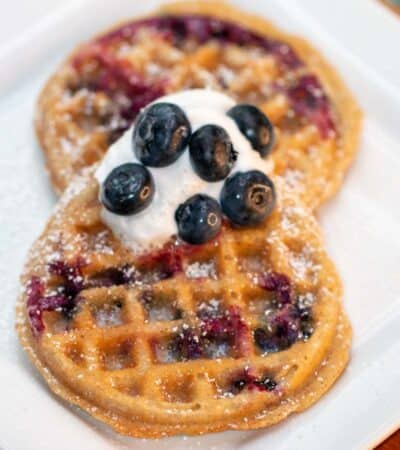 Easy Blueberry Chaffle Recipe