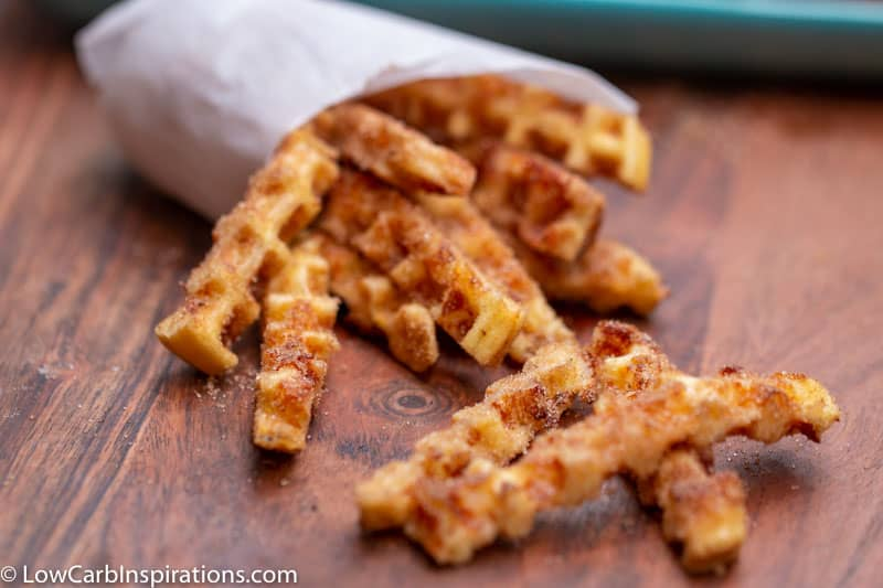 Keto Chaffle Churro Recipe (Sweet Chaffle) - Low Carb