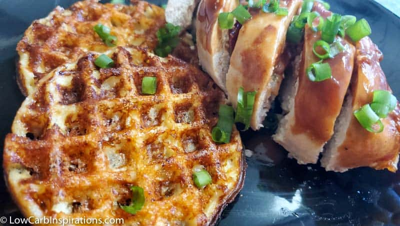 Keto Chaffle Recipe (chicken and waffles)