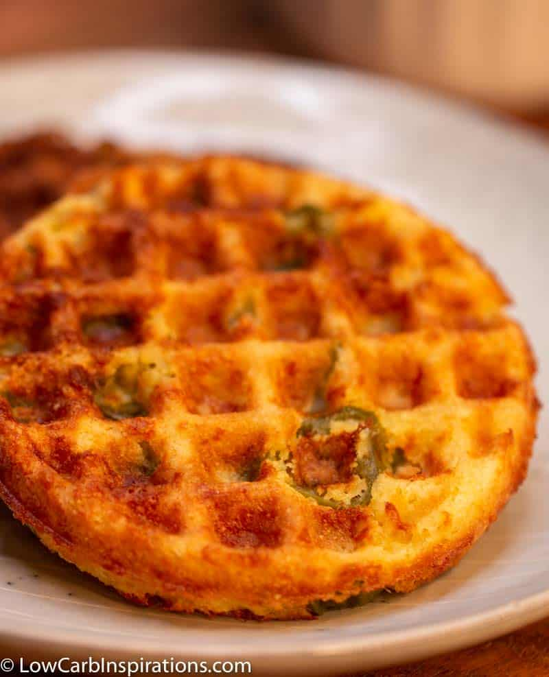 Keto Cornbread Chaffle Recipe (spicy recipe jalapeno version included too)