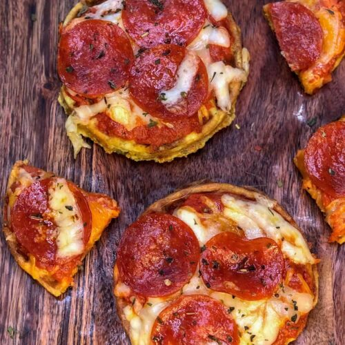 Keto Pizza Chaffle Recipe (takes only minutes to make!)