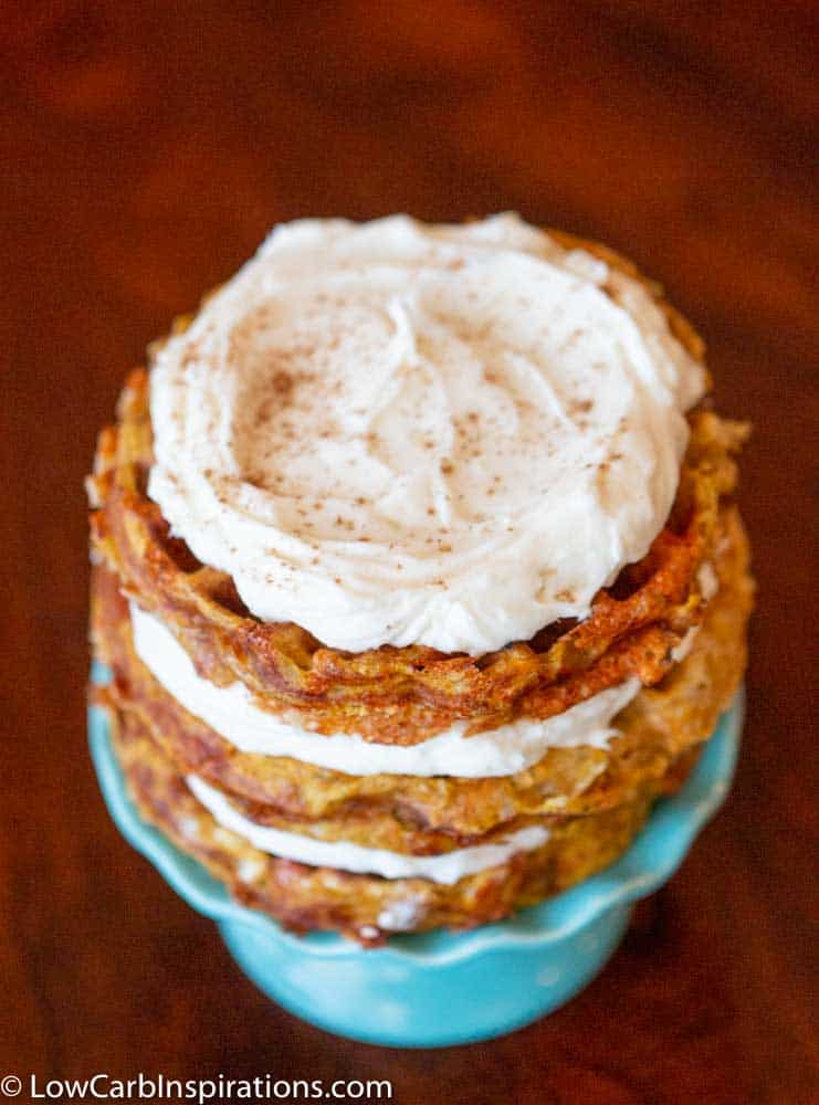 Keto Pumpkin Cake Chaffle Recipe