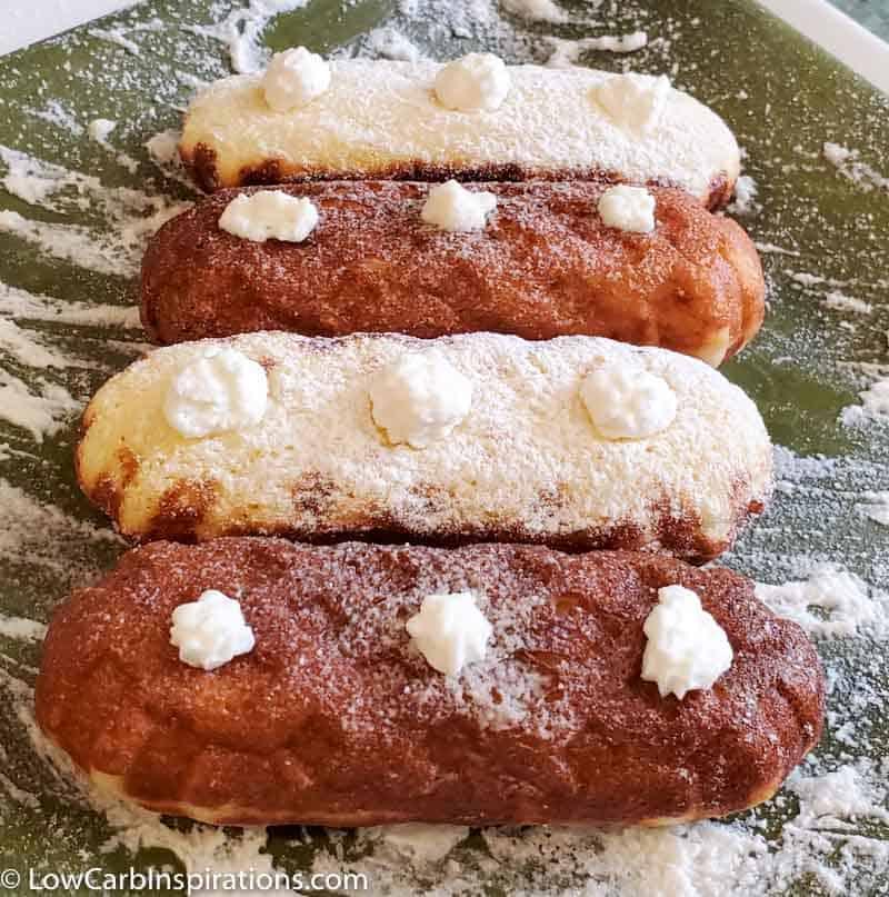 Keto Vanilla Twinkie Copycat Chaffle Recipe