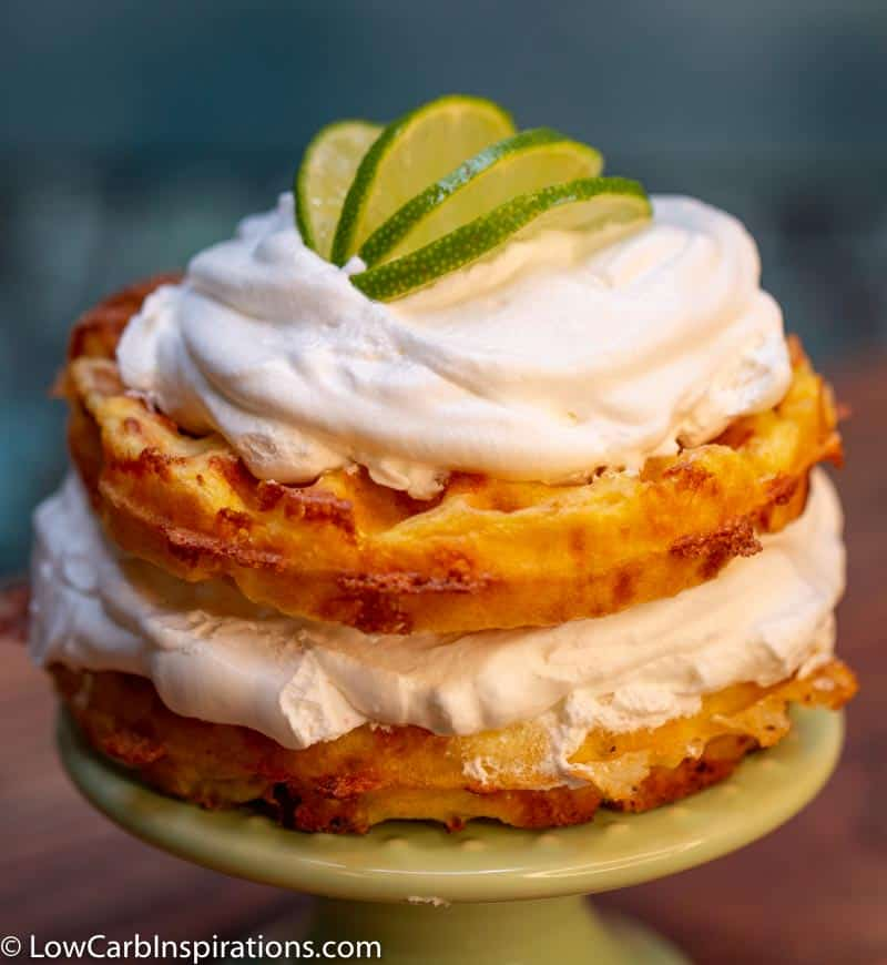 Keto Key Lime Pie Chaffle Recipe