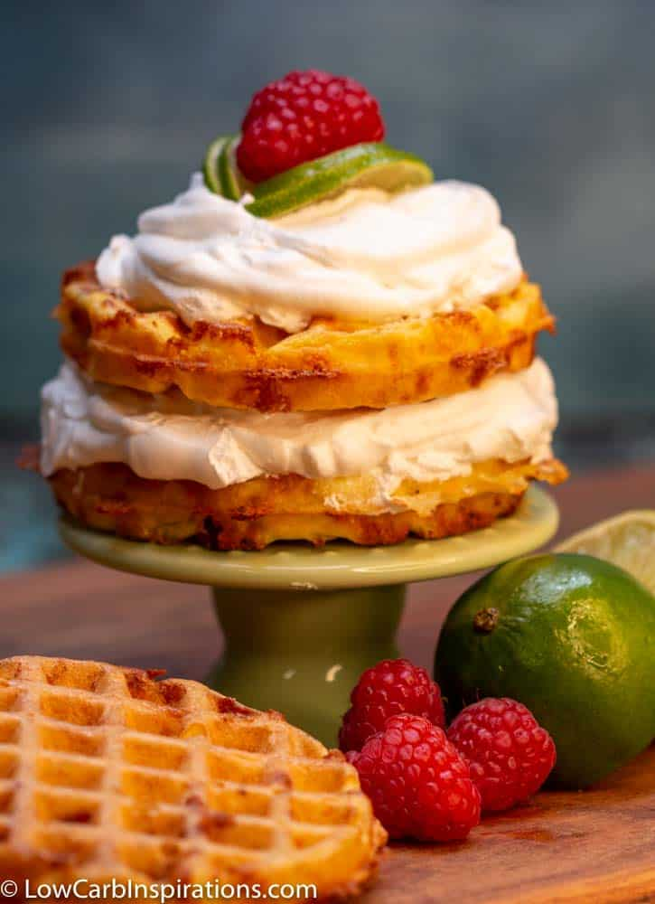 Keto Key Lime Pie Chaffle Recipe