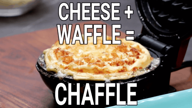 Keto Pizza Chaffle Recipe made using a mini waffle maker