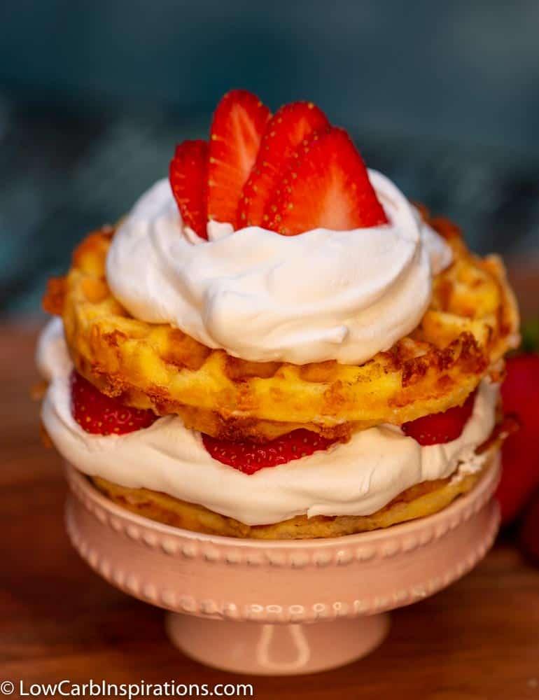 Strawberry Shortcake Chaffle Recipe