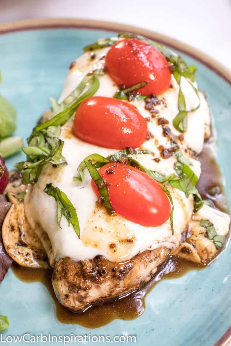 Baked Chicken Caprese is a perfect weeknight chicken recipe that is chock full of flavor, protein, and that healthy fat you want on a keto diet!