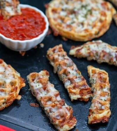 Cheesy Garlic Bread Chaffle Recipe