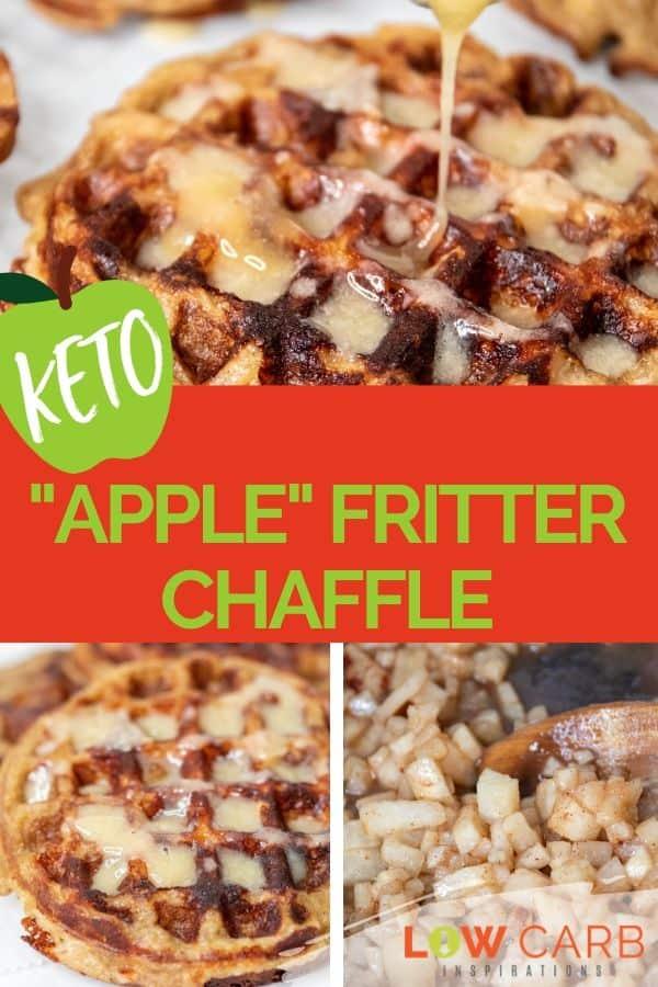 """Keto """"Apple"""" Fritter Chaffles"""