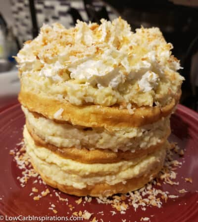Coconut Cream Cake Chaffle Recipe