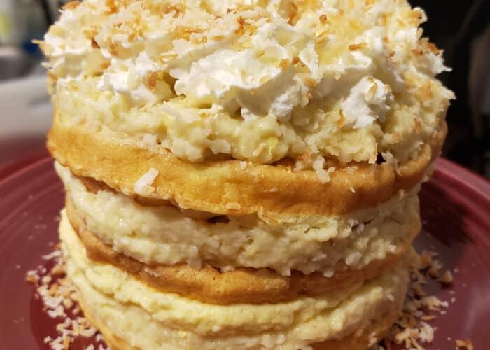 Coconut Cream Cake Chaffle Recipe