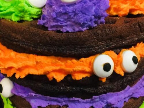 Excellent Halloween Monster Chocolate Chaffle Cake Recipe Low Carb Funny Birthday Cards Online Inifofree Goldxyz