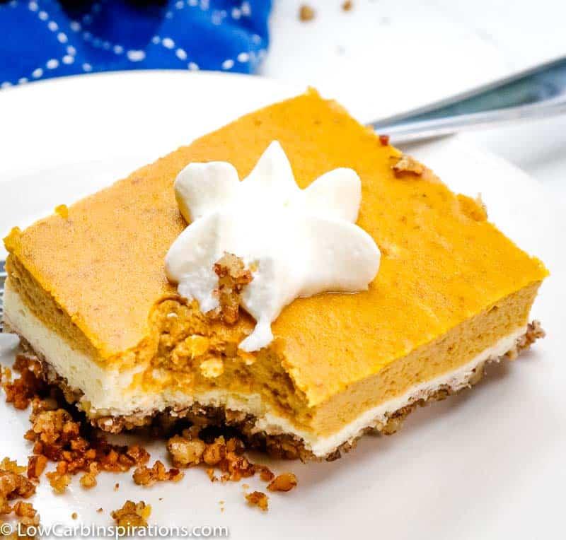 Keto Pumpkin Cheesecake Bars Recipe