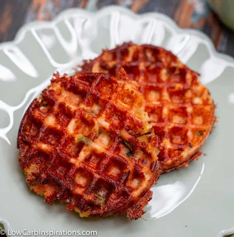 This is the BEST Keto Tuna Melt Chaffle recipe ever! It tastes just like a tuna melt! We use a Dash mini waffle maker to make this easy keto lunch idea! Perfect recipe for tuna!