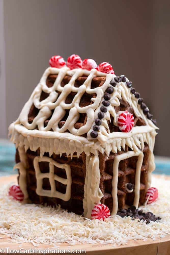 Keto Gingerbread House Recipe (made With Waffles)