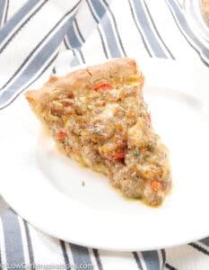 Keto Sausage Quiche Recipe