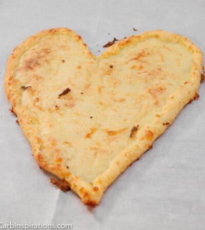 Keto Valentine's Day Heart Shaped Pizza Recipe