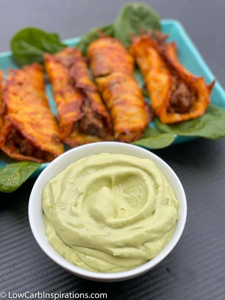 Keto Taquitos with Avocado Dip Recipe-11