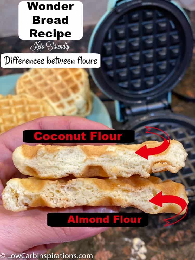 Keto Wonder Bread Chaffle Recipe difference between flours