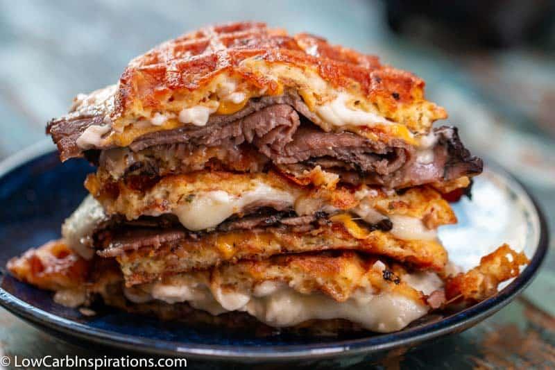 Roast Beef Chaffle Sandwich