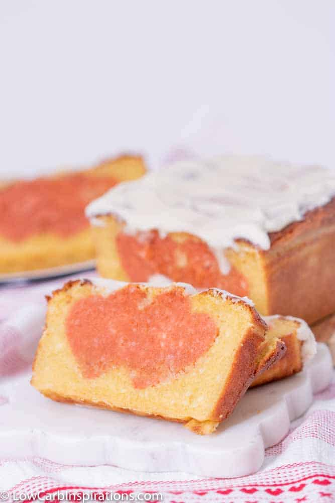 Surprise Heart Strawberry Lemon Pound Cake Recipe