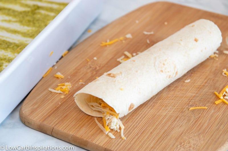 Easy Poblano Chicken Enchiladas Recipe