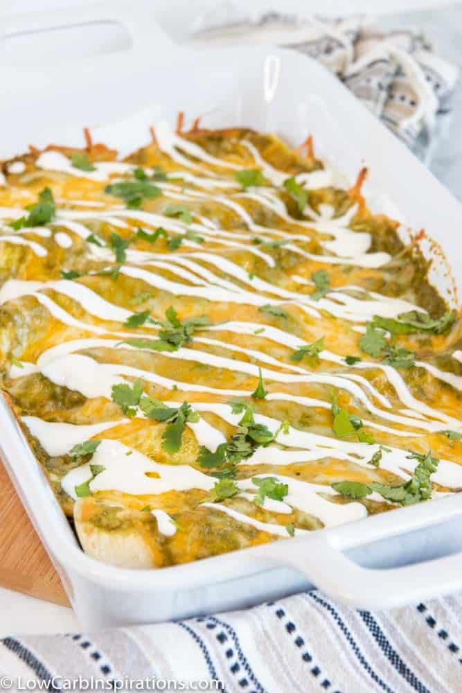 Easy Poblano Chicken Enchiladas Recipe
