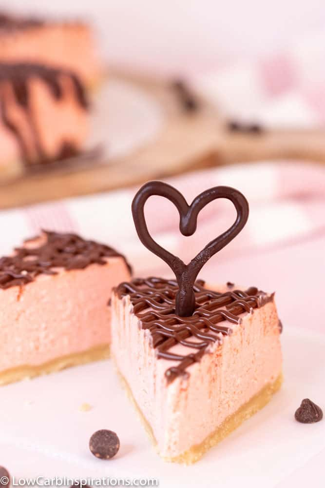 Keto Pink Chocolate Ganache Cheesecake Recipe