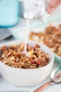 No Bake Keto Strawberry Grain Free Granola Recipe