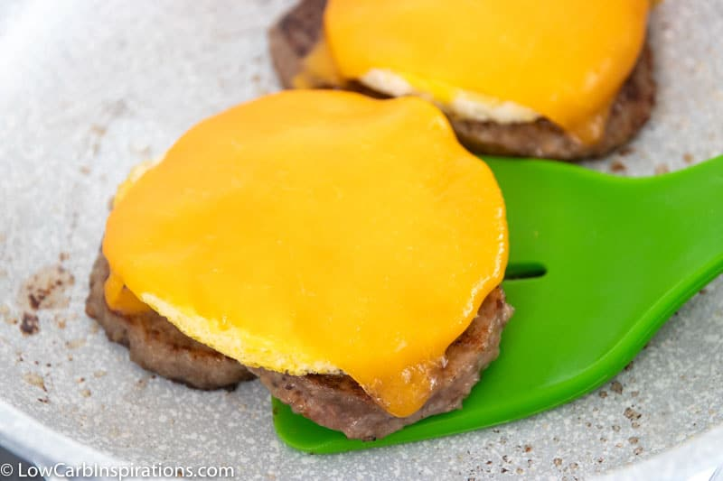 Sausage Egg and Cheese Keto Copycat McGriddle Recipe