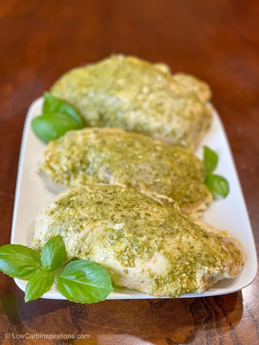 Sous Vide Chicken Breasts (Pesto & Goat Cheese)