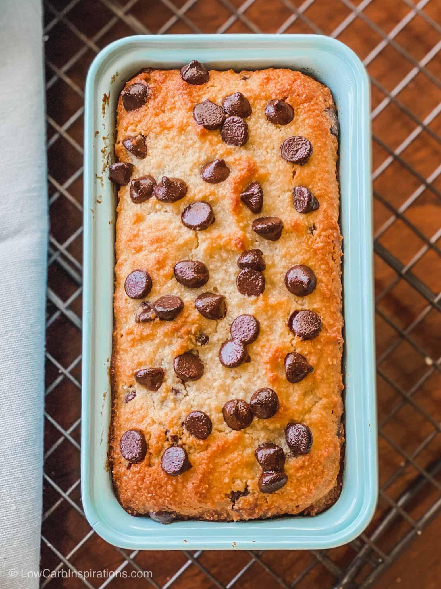 Keto Chocolate Chip Banana Bread Recipe