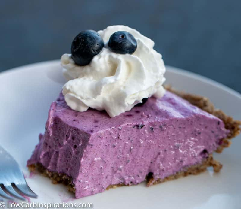 Keto Blueberry Pie Recipe (sugar free pie)