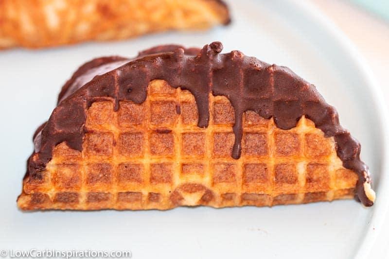 Keto Taco Choco topped with Keto Magic Shell Ice Cream Topping Recipe!