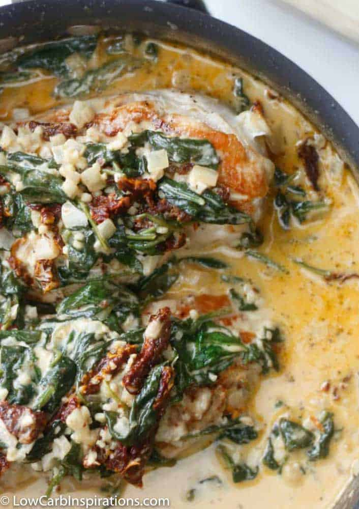 Keto Creamy Garlic Tuscan Chicken Recipe