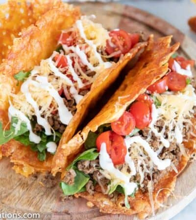 Crispy Cheese Low Carb Keto Tacos