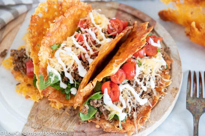 Crispy Cheese Low Carb Keto Tacos