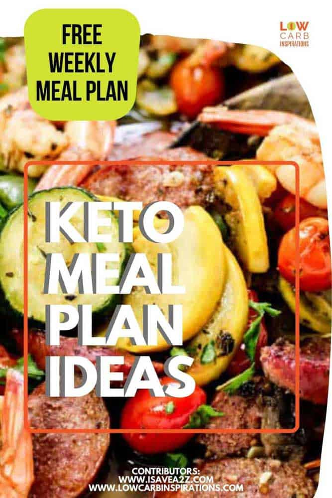 Free Weekly Keto Meal Plan