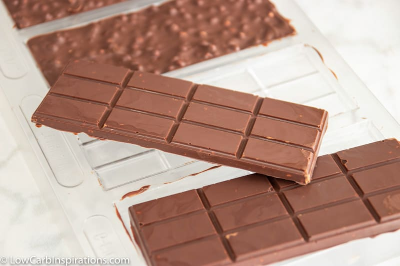 Keto Chocolate Crunch Candy Bar Recipe