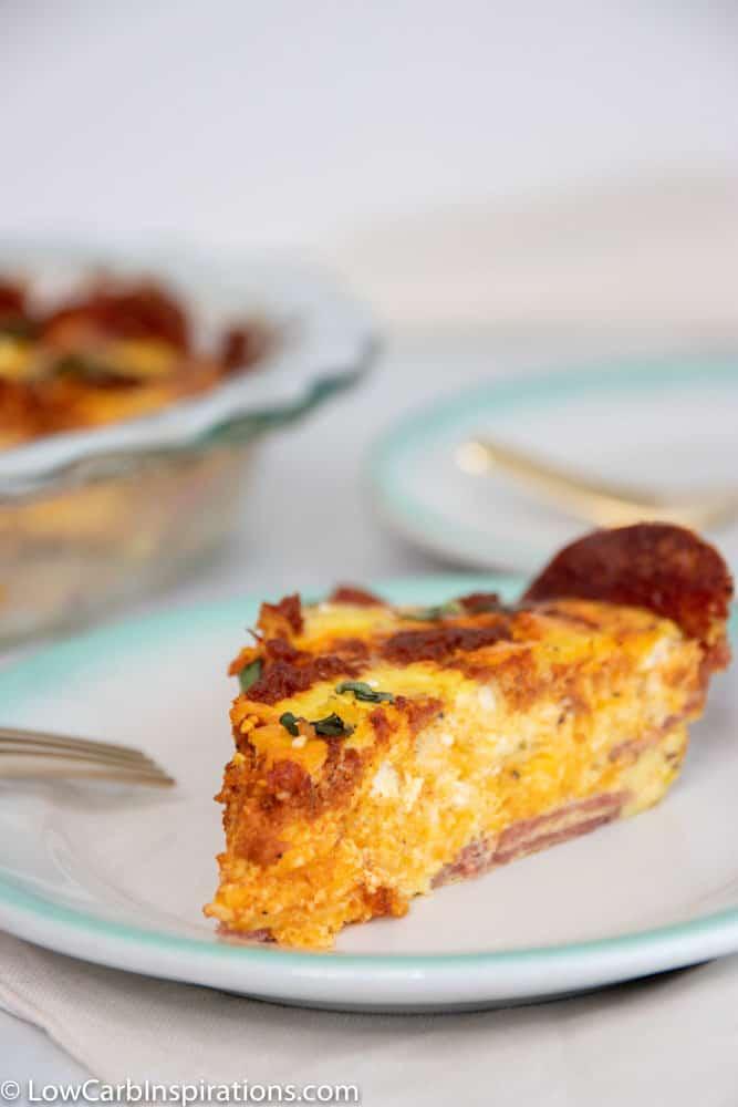 Keto Chorizo Quiche Recipe