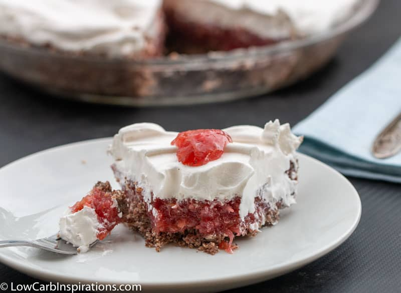Keto Rhubarb Dream Pie Recipe