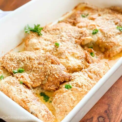 Keto Baked Parmesan Crusted Chicken Recipe