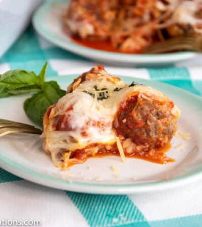 Keto Italian Meatball Parmesan Casserole Recipe