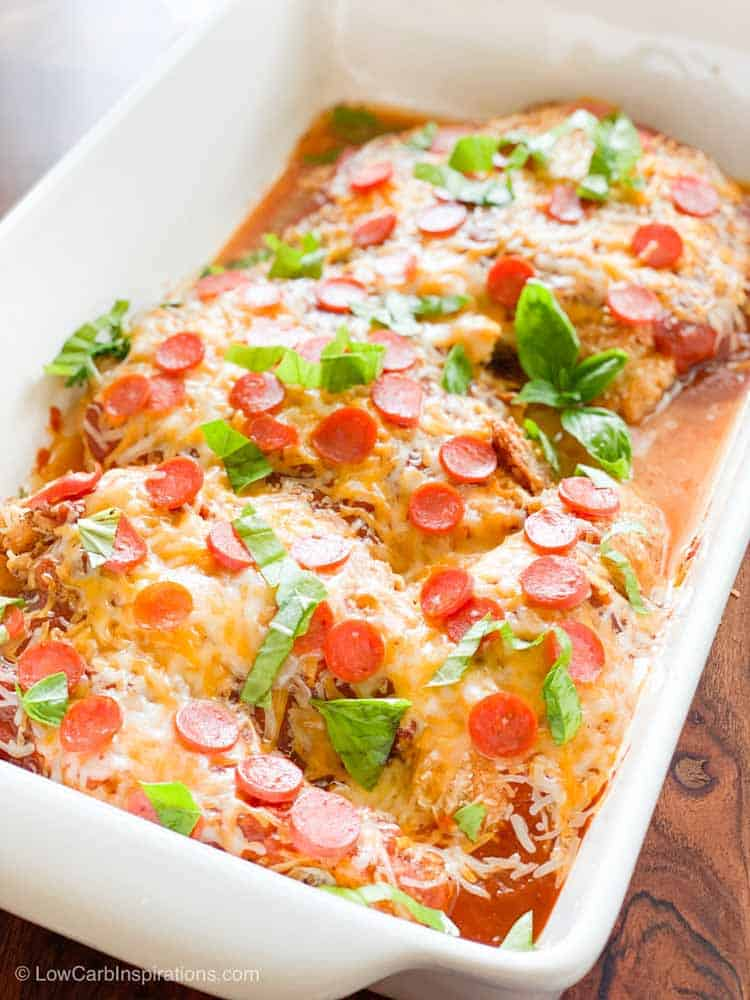 Low Carb Baked Pizza Chicken Recipe