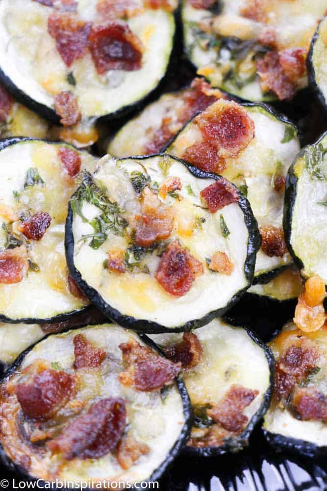 Bacon Ranch Parmesan Zucchini Chips Recipe