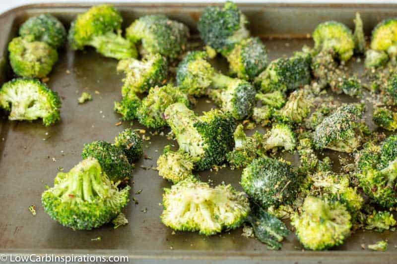 Cheesy Bacon Ranch Roasted Broccoli