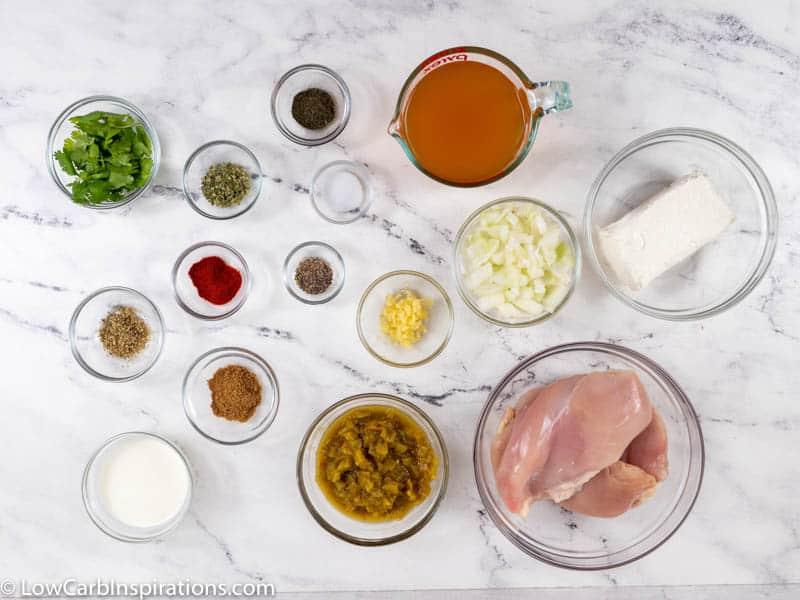 Crockpot Keto White Chicken Chili Recipe