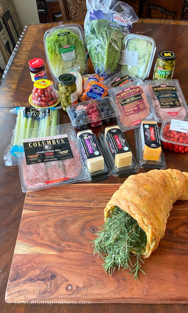Produce used to make a charcuterie board